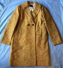 NWT J. Crew Daphne Coat In Italian Tweed SZ 4 Yellow Speckle