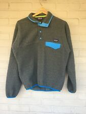 Vintage Patagonia Synchilla 1/4 Snap T Fleece Pullover Blue Men Size Extra Small