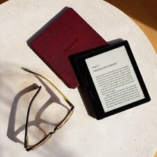 "Amazon Kindle Oasis E-reader with Leather Charging Cover  6"" 300 ppi Wi-Fi"