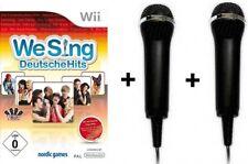 Nintendo Wii We Sing DEUTSCHE HITS 1 + 2 Micros Mikrofon BRANDNEU
