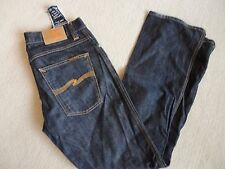 NUDIE JEANS Cotton Indigo Dry Broken Twill Slim Jim Jeans 34 X 32 Made in Italy