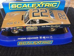 SCALEXTRIC C3323 1969 BOBBY ALLISON DODGE CHARGER BROOKS MASSEY Slot Car
