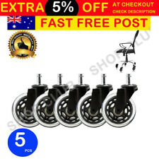 "3"" Rollerblade Office Chair Wheels Replacement Rolling Casters (Set of 5) Black"