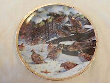 "1993 Bobwhites Bird by Owen J. Gromme Ceramic Plate 8.125"" (H1)"