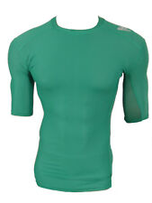 Adidas TechFit Climachill Funktionsshirt Compression Laufshirt grün Gr.S