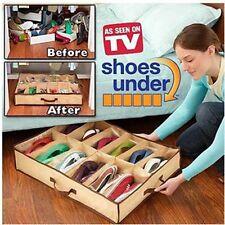 Shoe Box 12 Pocket Under Bed Foldable Shoe Container Storage Organizer Holder SH