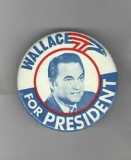1968 George WALLACE pin  3rd Party UNUSUAL 3 inch size US Bald EAGLE Graphic