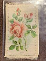 Vintage Cigarette Tobacco Silk Card Flowers - Rose