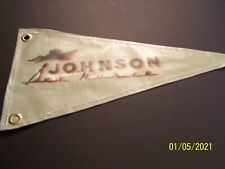 """Vintage Style Outboard Motor Boat Flag Reproduction Pennant 14"""" - 17"""" - Johnson+"""