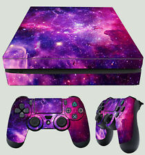 PS4 Slim Skin Galaxy Vibrant Deep Space Nasa Stars Sticker + 2 Pad Decals Vinyls