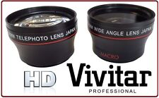 2PC SET HI DEF WIDE ANGLE & 2X TELEPHOTO LENS FOR SANYO VPC-TH1 VPCTH1