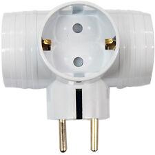 Korea NEW 3Way T-Bone Multi Plug Converter Outlet Safe Adapter Wall Socket
