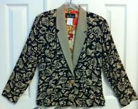 RARE - VTG CAROLE LITTLE - Lovely Art To Wear Blazer/Jkt /Petite-6 German Fabric
