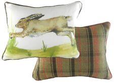"17""x13"" Leaping Hare Cushion Evans Lichfield DPA683 43x33cm Cotton Rabbit"