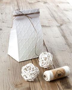 10 Geschenktüten Papiertüten Geprägt - PALAST PRÄGUNG  Kraftpapier Bodenbeutel