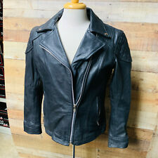 XL Womans Leather Motorcycle Jacket  Zip Out Liner Vented Gun Pocket #1580