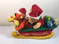 Winnie The Pooh Tigger Sleigh Walt Disney Jingle Bells Xmas Plush Musical VIDEO