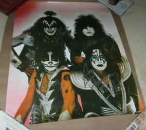 KISS RENION ERA SIGNED POSTER Ace, Gene, Paul, Peter  autographed