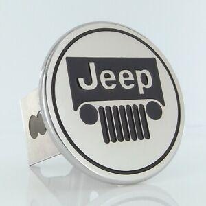 Jeep Logo Trailer Hitch Plug (Chrome)