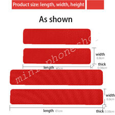 4X Carbon Fiber Car Door Welcome Plate Sill Scuff Cover Panel Decal RED For JEEP
