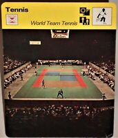 "World Team Pro Tennis 1978 Sportscaster 6.25"" Card 17-19 Shocking Innovation"