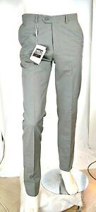 Pantaloni Uomo ENRICO COVERI Taglio Classico Grigio D893 Drop 6-R Tg 50
