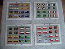 Briefmarken Flaggen V Vereinte Nationen Kleinbogen  Klbg Postfrisch 1984