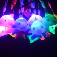Mini Dolphin Shaped Night Light Silicone Lamp LED Baby Toys Christmas Gift Décor