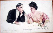 1909 Howard Chandler Christy/Artist-Signed Glamour Postcard: 'Black-Eyed Susan'