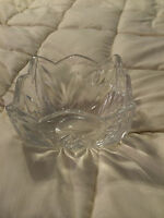 VINTAGE WEST GERMANY GORHAM FULL LEAD CRYSTAL TULIP SCALLOP TRIM VASE BOWL!