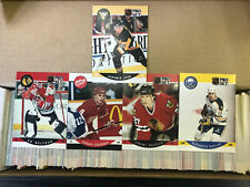 1990-91 Pro Set Hockey Complete 705-Card Set - Bourque Error - Jagr Roenick RC
