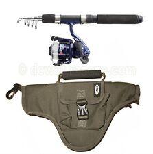 NGT Namazu Mini Travel Telescopic Holiday Fishing Rod & Reel Combo with Bag