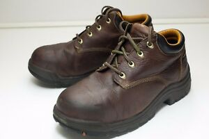 Timberland 8 Extra Wide Brown Safety Toe Boots