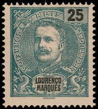 ✔️  LOURENÇO MARQUES 1898 - CARLOS I, RARE PERF 13½  - SC. 36a MNGAI $25 [CRD11]