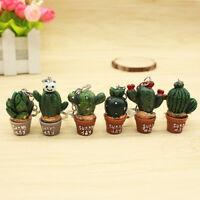Hot Mini Cute Simulation Cactus Keyrings Key Chain Hangbag Plant Charm Pendant