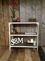 Metal & wood Shelving Unit, Antique White colour, no assembly required