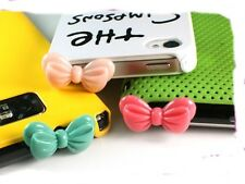 Cute Romantic Colorful Big Ribbon Anti-Dust Plug Phone Plug Phone Decoration