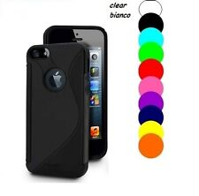 Pellicola + Custodia cover case S Line tpu WAVE per Apple Iphone 4 4G 4S Gel
