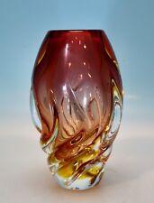 Böhmische Vase von Beranek für Skrdlovice Böhmen Czech