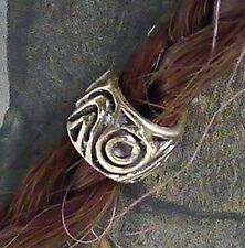 2 Stck Bartring Bronze Bartgummis Bart Perle Bartperle Bartschmuck L4,5mm Knoten
