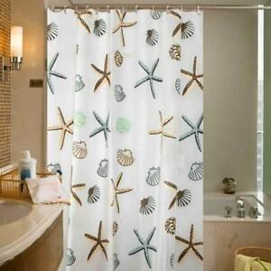 Modern Bathroom Extra Long Shower Curtain With Hooks Decor Size 180 x 200cm