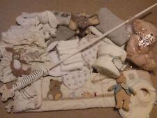 Neutral Baby Nursery Make a Bundle Blankets Sheets Swaddle Bibs Toys