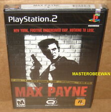 Max Payne (Sony PlayStation 2, 2001) PS2 New Sealed 1st Print Black Label
