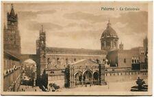 Primi '900 Palermo Cattedrale Passanti Piazza Cupola Torre FP B/N ANIM
