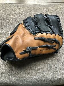 "MacGregor Pro 100 1st Baseman's Glove RHT Baseball Mitt W 12.5"" Deep Grip Pocket"