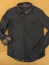 Lee Mens Vintage Reversable Checked Shirt (Size S) Debadged