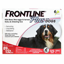 Frontline Plus for Dogs 89 - 132 lbs - red 6 MONTH//6 DOSES