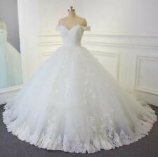 Real Photo Luxury Ball Gown Wedding Dress Bridal Gown Lace Sequin Robe de Mariée