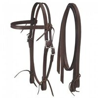 """Royal King Dark Oil Leather """"Frontier"""" Pony Size Headstall and Reins 42-31096"""