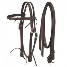 "Royal King Dark Oil Leather ""Frontier"" Pony Size Headstall and Reins 42-31096"